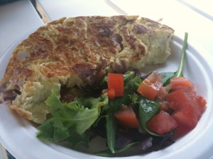 Ham and Swiss Omelette