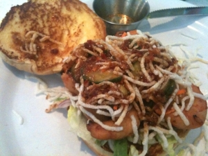 The Counter - Kung Pao Shrimp Burger